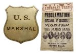 James & Younger Gang Wanted Poster With Marshall's Badge (1)